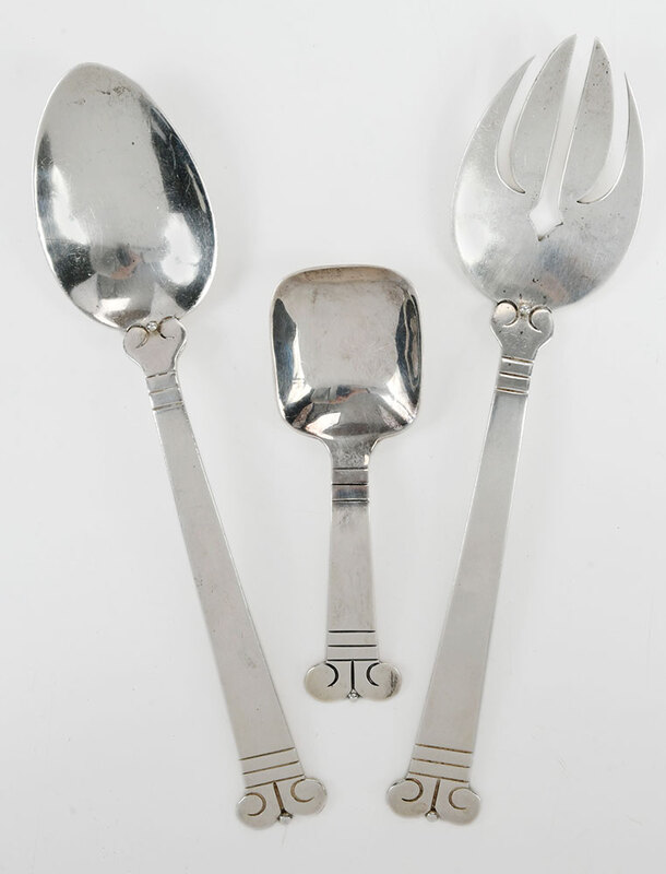 Three Pieces Hector Aguilar Sterling Flatware
