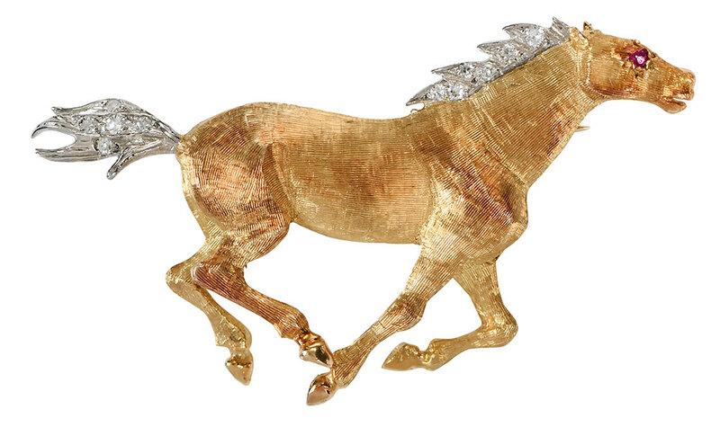 18kt. Horse Brooch