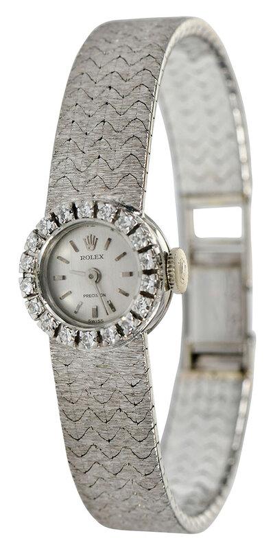 Rolex 18kt. Diamond Ladies Watch