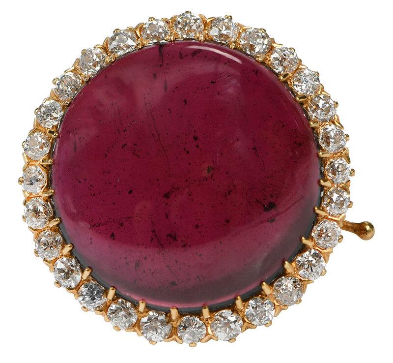 Antique 18kt. Gemstone & Diamond Brooch