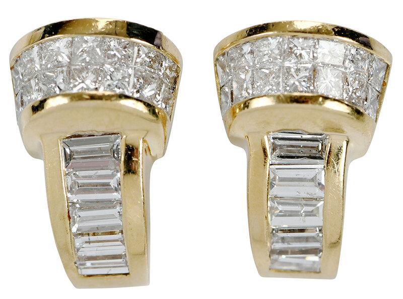 14kt. Diamond Earrings