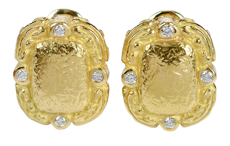 Katy Briscoe 18kt. Diamond Earrings