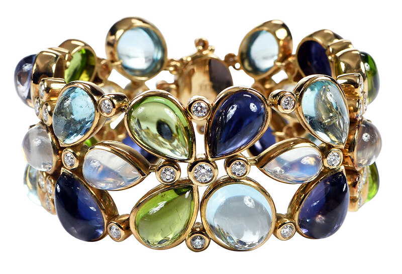 Temple St. Clair 18kt. Gemstone Bracelet