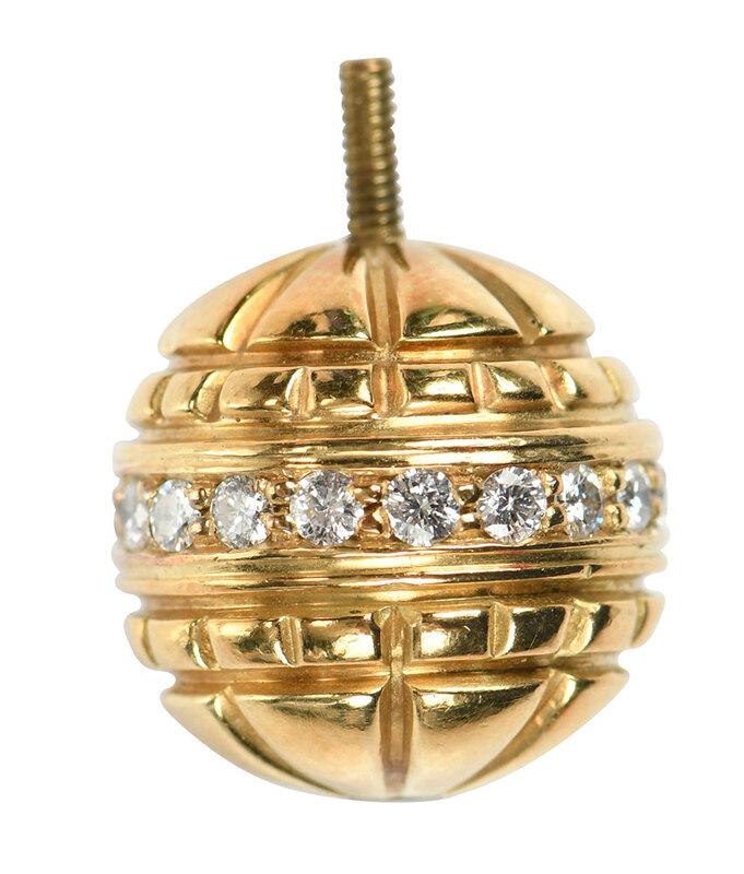 18kt. Diamond Pearl Clasp