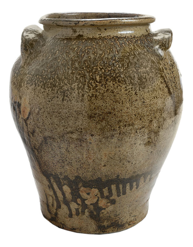 Important Early Dave Drake Attributed Inscription Jar