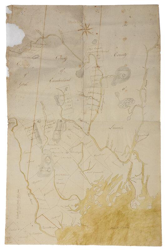 Manuscript Map of Maine