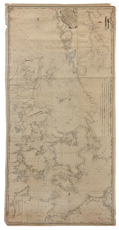 Moore - Chart of the Cattegat and Sound, 1790