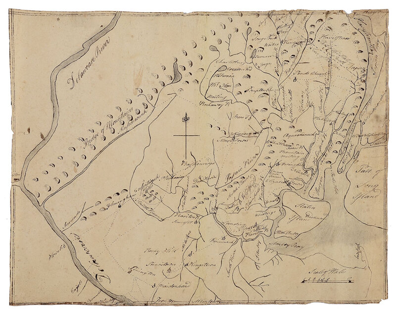Manuscript Map of New Jersey and New York