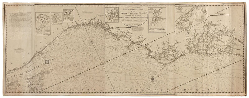 Laurie & Whittle - Map of the North American Coast