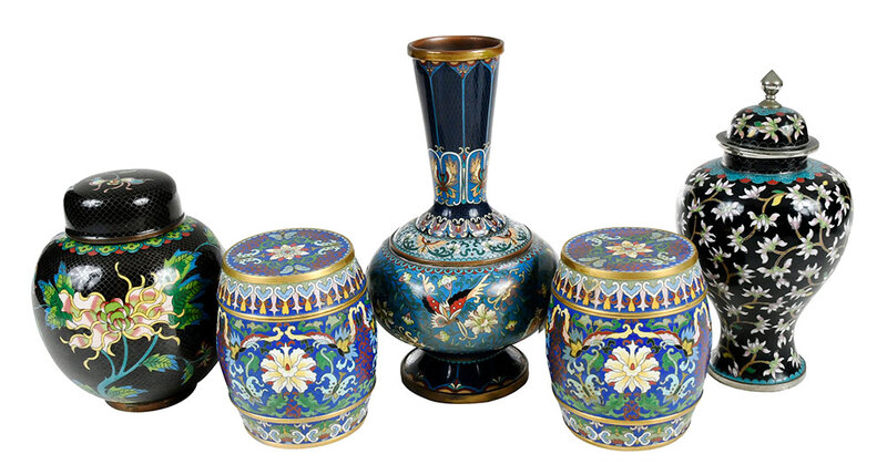 Five Pieces Chinese Cloisonne