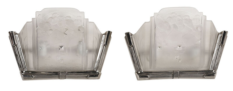 Pair Muller Fréres Luminaire Wall Sconces
