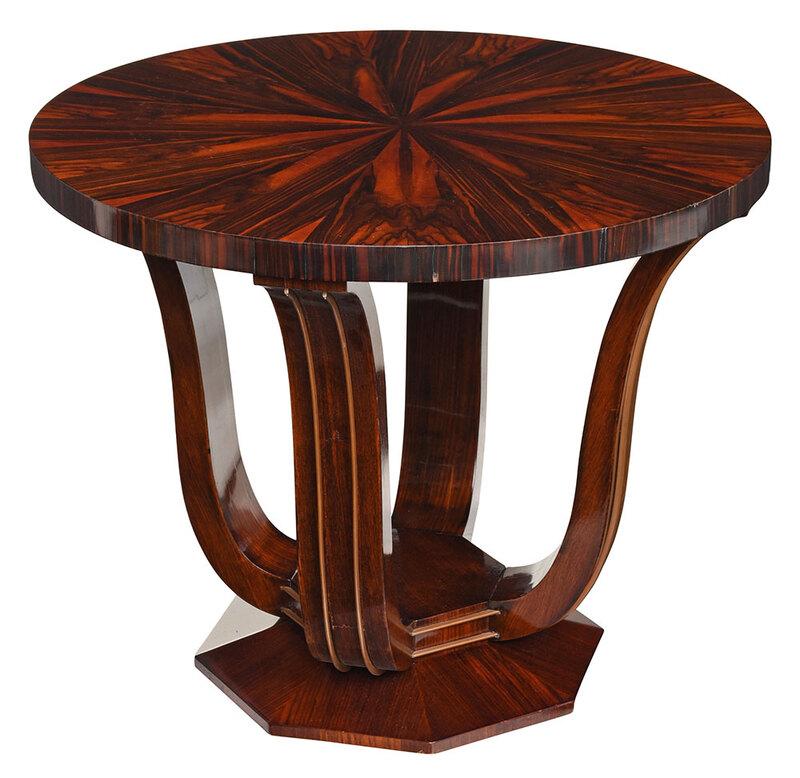 Art Deco Kingwood Veneered Center Table