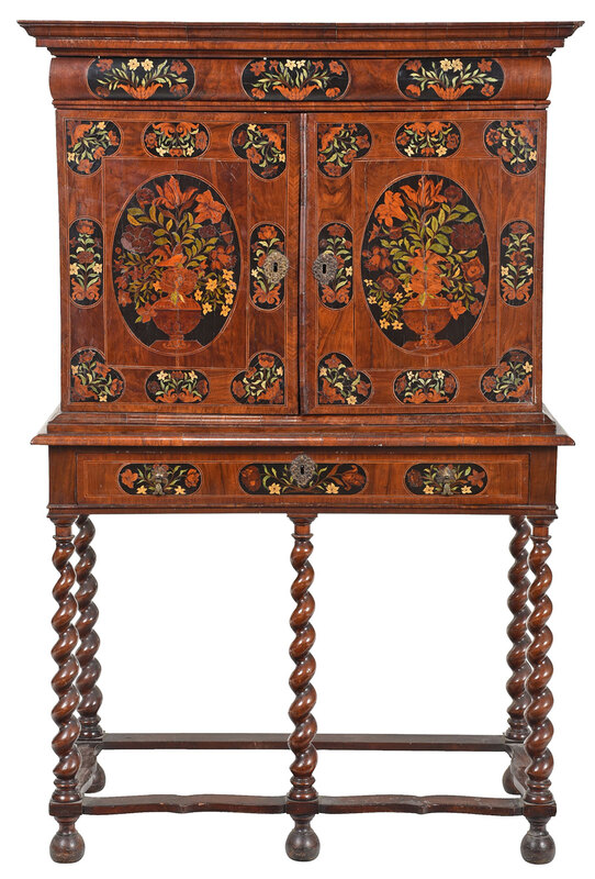 William and Mary Walnut Cabinet on Stand