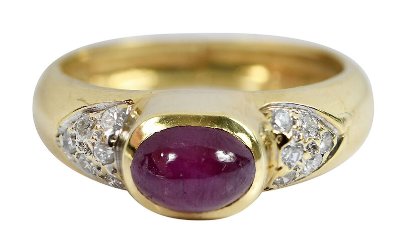18kt. Ruby and Diamond Ring