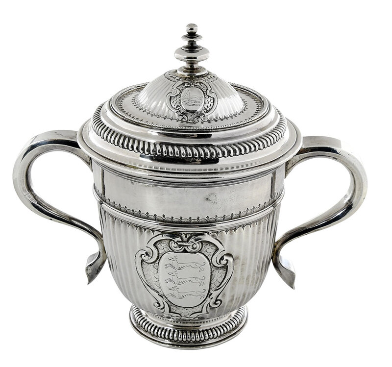 Queen Anne English Silver Covered Cup