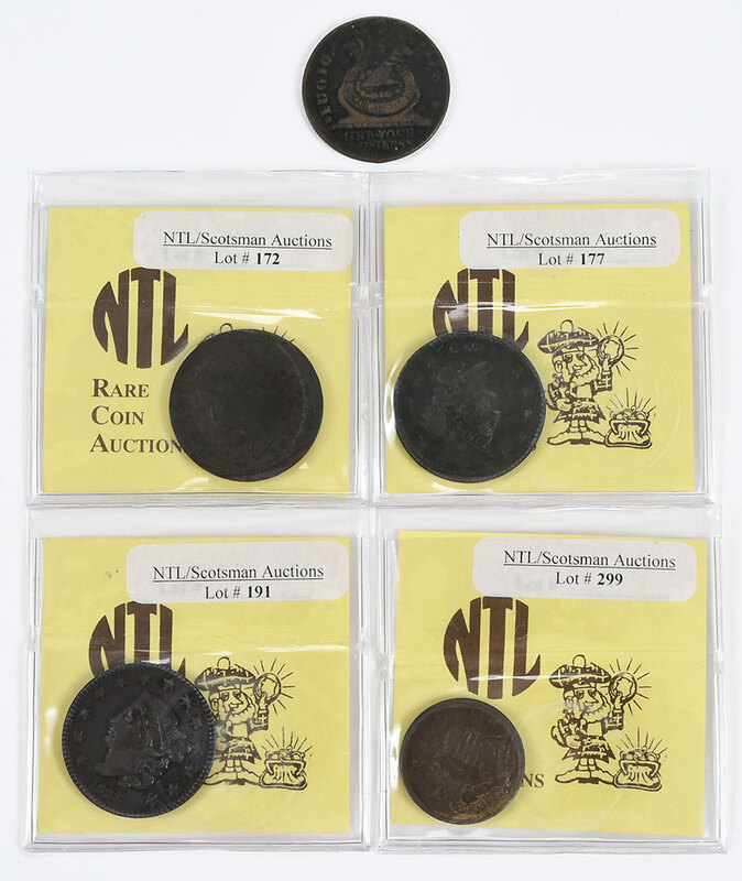 Five Assorted Copper Coins