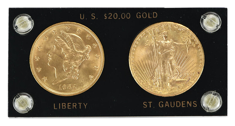 Two $20 Gold Coins