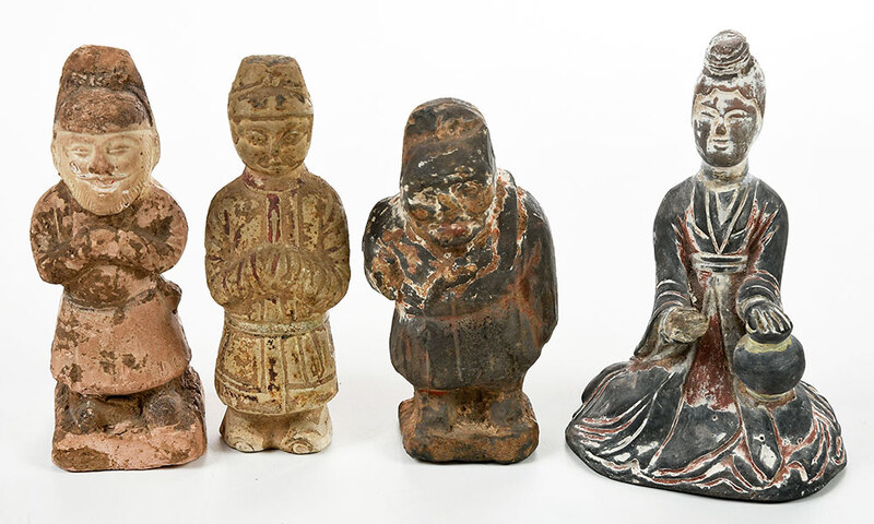 Four Chinese Pottery Figures