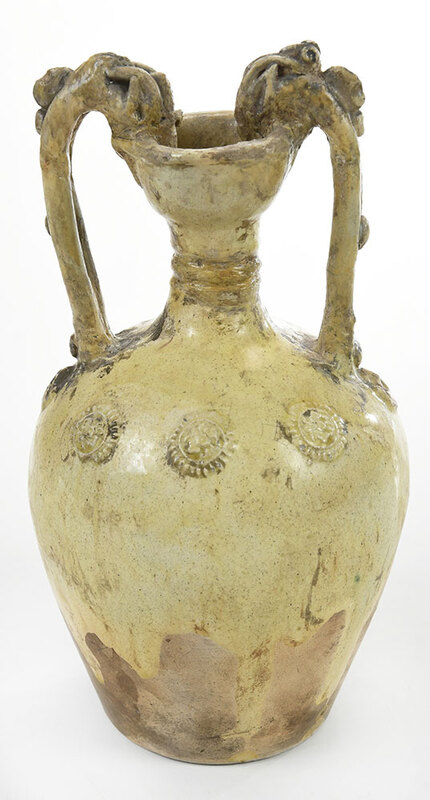 Chinese Pottery Amphora with Dragon Handles