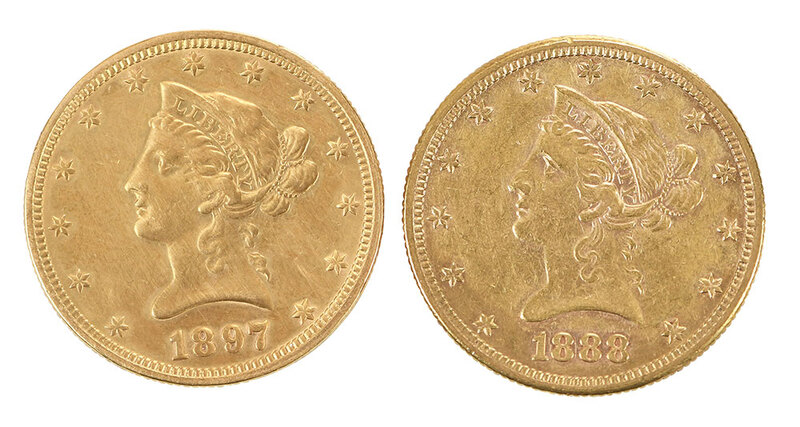 Two $10 Gold Coins