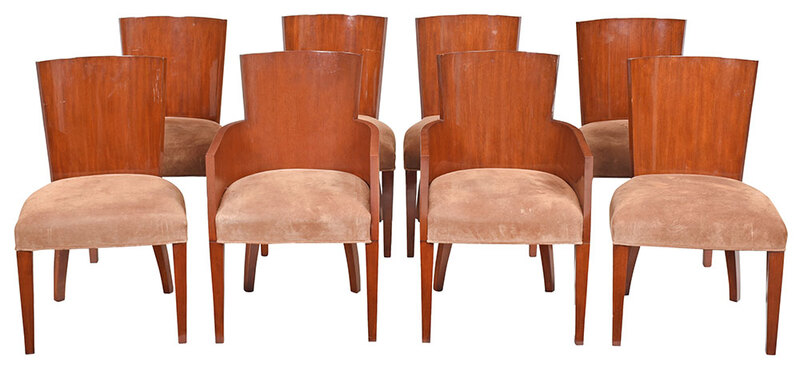 Set Eight Ralph Lauren Art Deco Style  Dining Chairs