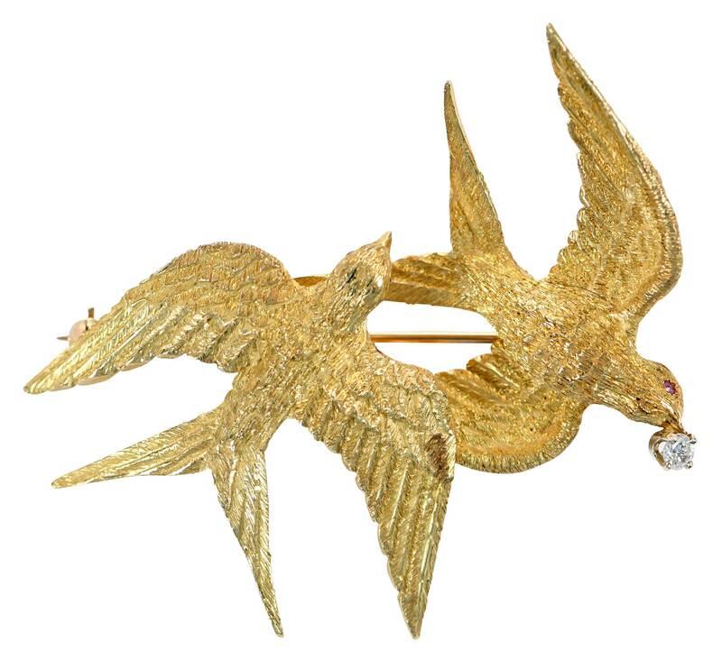 18kt. Bird Brooch