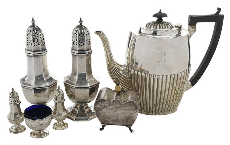 Seven Pieces English Silver