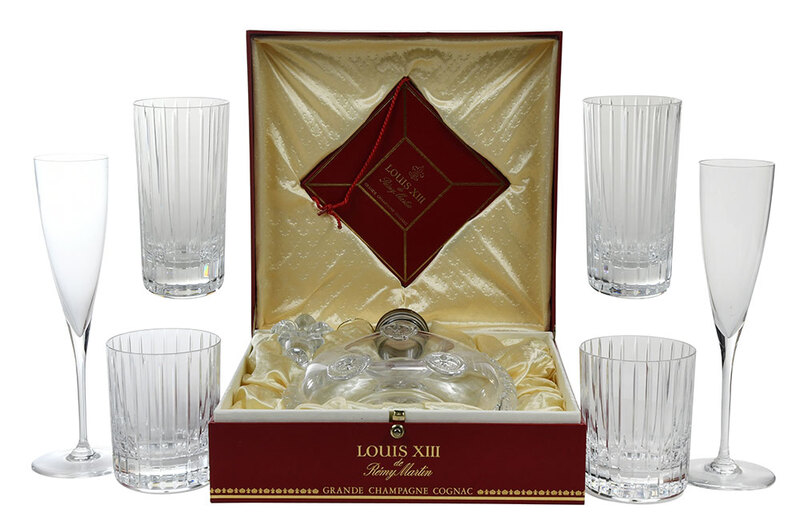 Baccarat Decanter, 29 Champagnes and Tumblers