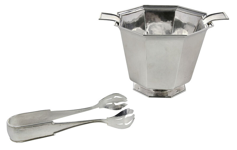 Rare Kalo Sterling Ice Bucket and Tongs