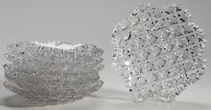 Six Egginton Brilliant Period Cut Glass Plates