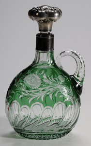 Stevens & Williams Brilliant Period Cut Glass Oval Decanter