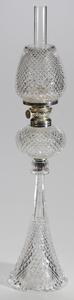 Dorflinger Brilliant Period Cut Glass Princess Oil Lamp