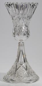 Brilliant Period Cut Glass Chalice Vase
