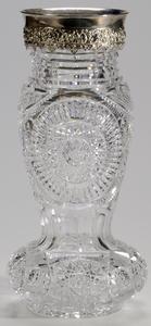 Meriden or Clark Brilliant Period Cut Glass Vase