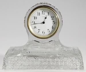 Brilliant Period Cut Glass Mantle Clock