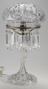 Brilliant Period Cut Glass Electric Lamp
