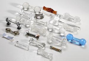 21 Assorted Knife Rests, Libbey Glass Hatchet