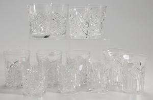 Twelve Brilliant Period Cut Glass Tumblers