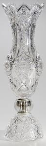 Monumental Brilliant Period Cut Glass Vase