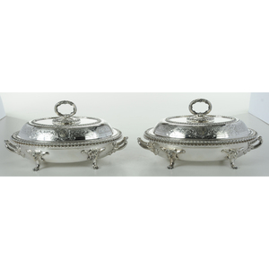 Pair of English Silver Plate Entrees