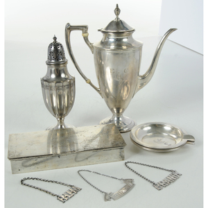 Nine Pieces Sterling Table Items
