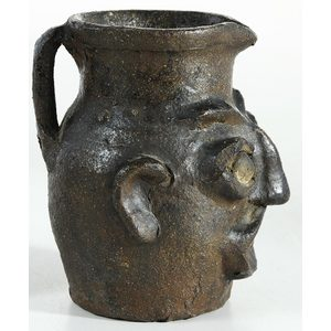 Rare Edgefield Face Pitcher