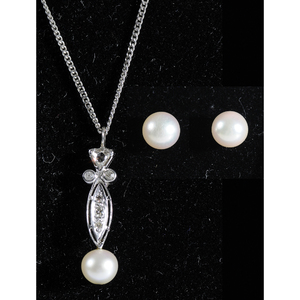 Group of Gold, Diamond & Pearl Jewelry