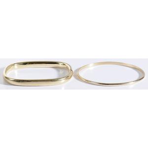 Two 14kt. Bangle Bracelets