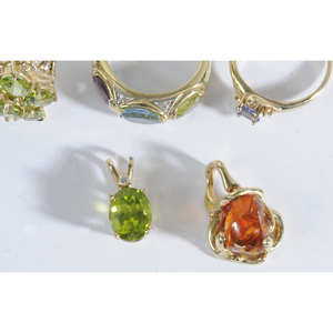 Group of Gold & Gemstone Jewelry