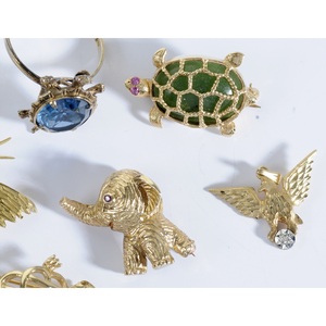 Six Pieces Gold Animal Themed Jewelry