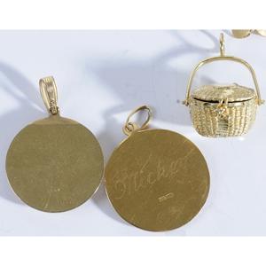 Five Gold Pendants