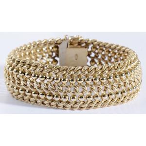 18kt. Woven Link Bracelet