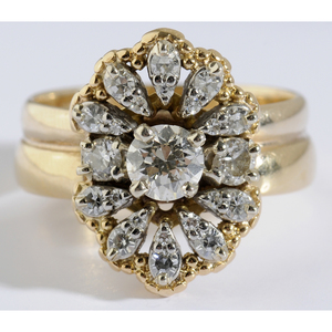 Gold & Diamond Bridal Set