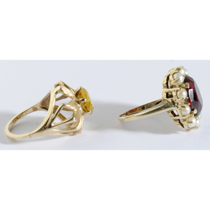Two 14kt. Gemstone Rings